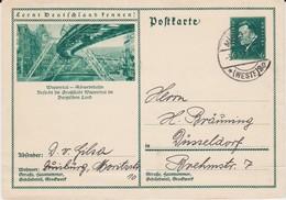 DR Weimar Ganzsache P 201 Bildpostkarte Wuppertal Gel Münster Spät Juni 1933 - Germania