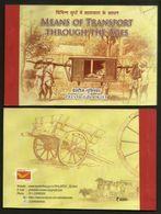 India 2017 Means Of Transport Through Ages Vintage Car Metro Bus Train Prestige Booklet # 5872 Inde Indien - Voitures