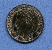 Napoléon III / 1 Centime 1861 A / TB+ - France