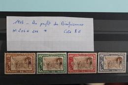 1907     -   N°  203   à   206 *    OEUVRES  DE  BIENFAISANCE    COTE   :   8€ - 1881-1918: Carol I