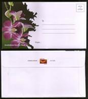 India 2018 Flowers Orchid Flora Tree Plant Envelope + Letter Sheet MINT # 16515 - Orchids