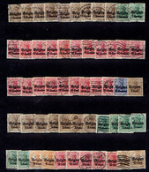 Lot D'une Centaine De Timbres Oblitérés De L'occupation Allemande (Guerre De 14/18, OC) (toutes Valeurs) - Guerre 14-18