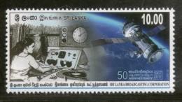 Sri Lanka 2017 Broadcasting Corporation Telecom Satellite Clock Science MNH # 164 - Telecom