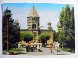 Post Card Ussr Armenia Postal Stationery 1980 Church - Armenia