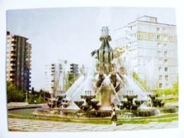 Post Card Ussr Armenia Postal Stationery 1983 Fountain - Armenia