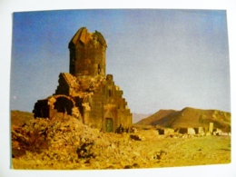 Post Card Ussr Armenia Postal Stationery 1980 Monastery - Armenia