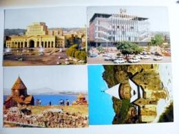 4 Cards Post Card Ussr Armenia - Arménie