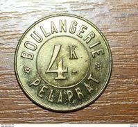 """Très Beau Jeton De Nécessité """"4k (de Pain) Boulangerie Pélaprat"""" French Emergency Token - Monetary / Of Necessity"""