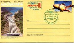 AUSTRALIE. Aérogramme Avec Oblitération De 1988. Aeropex'88. - Avions