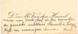 Visitekaartje - Carte Visite - D.& M. Van Den Heuvel - Ursel - Cartes De Visite