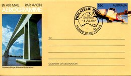 AUSTRALIE. Aérogramme Avec Oblitération 1er Jour De 1987. Avion Nomad. - Avions