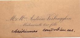 Visitekaartje - Carte Visite - Mr & Mme Antoine Verbrugghen - Notaris Waregem - Visiting Cards