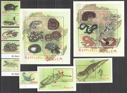 WW982 SIERRA LEONE FAUNA REPTILES #39795-3814 !!! MICHEL 49 EURO 1SET+2BL+2KB MNH - Reptiles & Batraciens