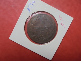 LUXEMBOURG 10 CENTIMES 1870 (A.2) - Luxembourg
