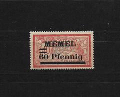 Memel:Mi.Nr. 36.b ** Postfrisch  Gepr.  Gepr.Haslau BPP - Klaipeda