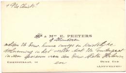 Visitekaartje - Carte Visite - Mw E. Peeters - Oude God Antwerpen - Visiting Cards