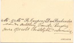Visitekaartje - Carte Visite - Mr & Mme R. Tuypens - De Brabander - Adegem - Visiting Cards