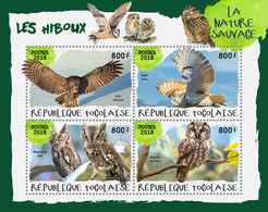 Togo. 2018 Owls. (418a) - Hiboux & Chouettes