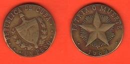 Cuba  Un Peso Patria O Muerte 1983 - Cuba