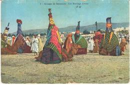 POSTAL    GROUPE DE BASSOURS- UN MARIAGE ARABE - Postales