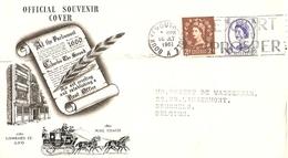 Grande-Bretagne 1961 - Official Souvenir Cover De Bournemouth à Bruxelles, Belgique - YT 265/68 - King George Trust - 1952-.... (Elizabeth II)