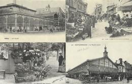 LOT DE 24 REPRODUCTIONS DE CARTES POSTALE ANCIENNES DIVERSES SUR LES COMMERCES FOIRES ET MARCHES FRANCAIS - Postcards
