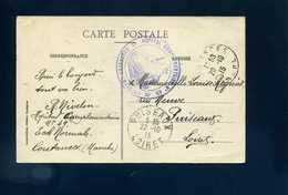 Hôpital Complémentaire N° 49 Coutances Manche Ecole Normale Franchise CP Le Tribunal Et La Statue Du Prince Lebrun - Postmark Collection (Covers)