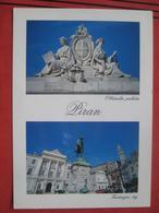 Piran / Pirano: Zweibildkarte - Obcinska Palaca / Tartinijev Trg - Slovénie
