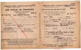 VP14.255 - LIMOGES 1943 - Document Du Commissariat Général Au Service Du Travail Obligatoire - Mr DORME à PANAZOL - Documents Historiques
