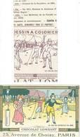 Chocolat Lombart, Le Jeu Du Diabolo / Feuille à Colorier ( Pochette Avec Feuille Pub ) (PUB) - Publicités