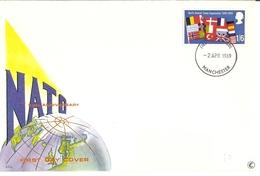 Grande-Bretagne 1969 - FDC - Nato - 20th Anniversary - Cachet Manchester - YT 560 - FDC