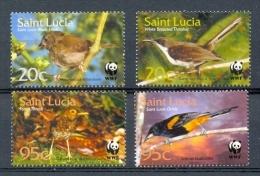 Nbx287s WWF FAUNA VOGELS BIRDS VÖGEL AVES OISEAUX SAINT LUCIA 2001 PF/MNH - W.W.F.