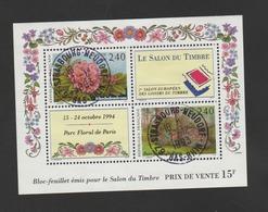 FRANCE / 1993 / Y&T N° 2849/2850 En Bloc Ou BF N° 15 (Salon Du Timbre 1994) - Oblitérations Du 07/12/1993. SUPERBE ! - Blocks & Kleinbögen