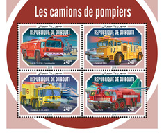 Djibouti. 2018 Fire Engines. (608a) - Firemen
