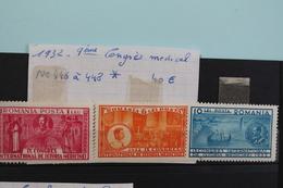1932     -   446  à  448 *    9ème  CONGRES  MEDICAL  :  40,00€ - 1918-1948 Ferdinand, Charles II & Michael