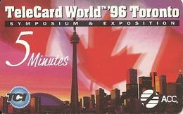Canada: TCI ACC - TeleCard World '96 Exposition Toronto - Canada