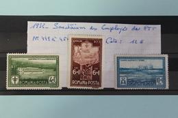 1932     -   449  à  451 *    SANATORIUM  DES  EMPLOYES  DES  P.T.T.            COTE  :  12,00€ - 1918-1948 Ferdinand, Charles II & Michael