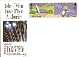 Ile De Man 1988 - Filacept - CP Carte Postale Neuve - Europa YT 369/70 Se Tenant - Man (Ile De)