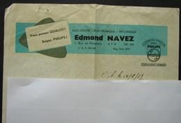 Pu. 51. Entête Publicitaire D'Edmond Navet à Ath Sur Une Facture En 1957 - Publicités