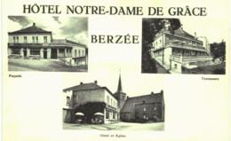 BERZéE Hôtel Notre Dame De Grâce   Façade , Hôtel Et église, Terrasses. - Philippeville