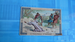 CHROMO : SUPREME CHOCOLAT : Les Grands Martyrs : ST BARNABE - Chocolat