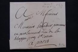 FRANCE - Lettre Pour Paris En 1757 - L 21192 - Marcophilie (Lettres)
