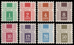 Singapur 1968 - Mi-Nr. Portomarken 1-8 ** - MNH - Singapore (1959-...)