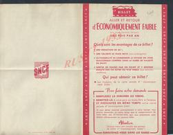 SNCF ( CHEMIN DE FER ) DEMANDE DE BILLET ALLER & RETOUR D ÉCONOMIQUEMENT FAIBLE VIERGE : - Titres De Transport
