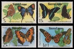 Sierra Leone 1979 - Mi-Nr. 574-577 ** - MNH - Schmetterlinge / Butterflies - Sierra Leone (1961-...)