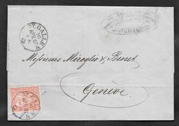 1867 10c. HELVETIA ST. GALLEN - 1862-1881 Helvetia Seduta (dentellati)