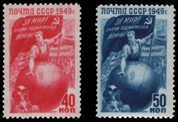 Russia / Sowjetunion 1949 - Mi-Nr. 1430-1431 ** - MNH - Frieden / Peace - 1923-1991 URSS