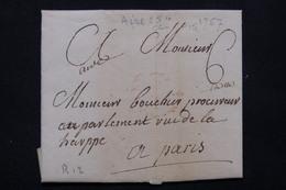 FRANCE - Lettre Pour Paris En 1757 - L 21193 - 1701-1800: Précurseurs XVIII