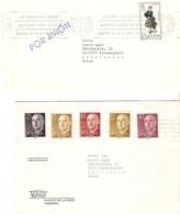 Espagne 1969 - Petit Lot De 2 Lettres (Par Avion/Imprimé) De Puerto De La Cruz, Tenerife à Niederglatt, Suisse - Tigaiga - 1931-Aujourd'hui: II. République - ....Juan Carlos I