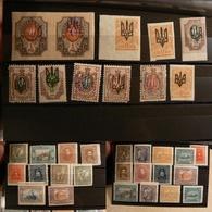 Ukraine - Timbres Anciens Neufs * - Collections (sans Albums)